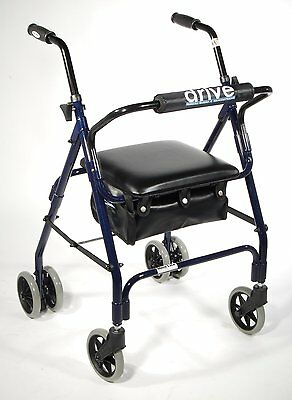 "Drive Medical Mimi Lite Push Brake Rollator 510 , 24"" x 13"" x 14"" New"