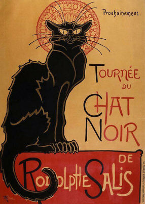 Black Cat Tour Of Rodolphe Salis by Theophile Steinlen Oil Painting Reproduction
