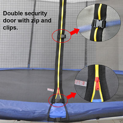 Replacement Trampoline Safety Net Enclosure Surround 8 10 12 13 14Foot 6/8 Poles