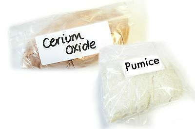 Pumice and Cerium Oxide Powders for Polishing Glass