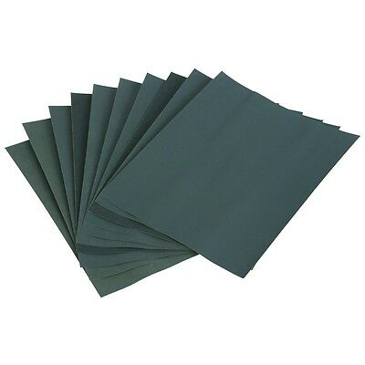 "SANDPAPER WET AND DRY (10 x 9x11"") SANDING - COARSE MEDIUM FINE EXTRA FINE GRITS"