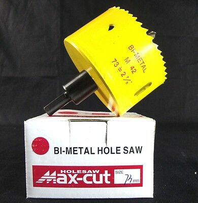 Max-cut: BI-Metal Hole Saw 73mm 2 7/8'' w/Arbor & Bit PRO Varible Tooth (Q6)