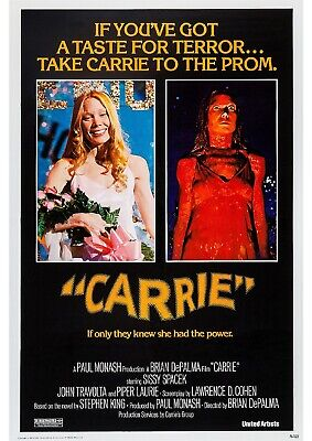 Carrie - Stephen King - A4 Laminated Mini Poster