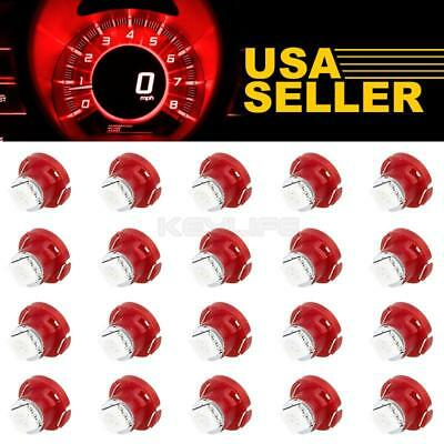 20Pcs Red T5/T4.7 Neo Wedge LED Bulb Dash A/C Climate Heater Controls Lights LED