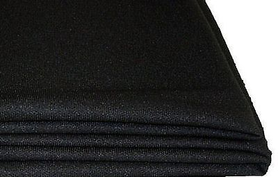 "Stereo Speaker Grill Cloth Fabric Black 36""x60"" 15 SQ Feet Stretches"
