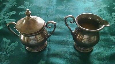 Vintage Sheffield Silver Creamer and Suger EPC 60X