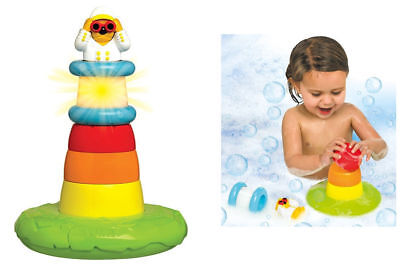 Tomy Kids toddler Stack Play Lighthouse Shower Bath time bathtime water Toy Fun