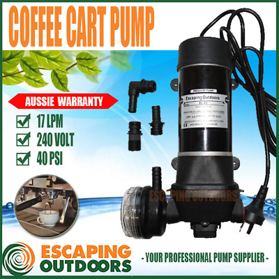 Water Pressure Pump 240V Heavy Duty Rec for Coffee Cart, Drinking Water Quality