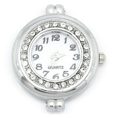 "LOVE Watches Face Round RhinesSilver 3.2cmx2.8cm(1 2/8""x1 1/8"") 10x"