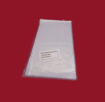 """200 5x6"""" Clear 2 Mil Poly Bags Thick Lay-flat Open Top Plastic Baggies 2ml FDA"""