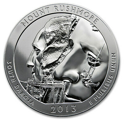 2013 5 oz Silver ATB Mount Rushmore National Park, SD - SKU #74101