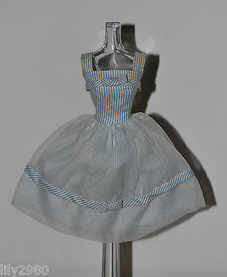 Vintage Barbie #933 Movie Date Dress Blue White Striped Outfit Tagged