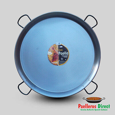 115cm Authentic Traditional Polished Steel Paella Pan