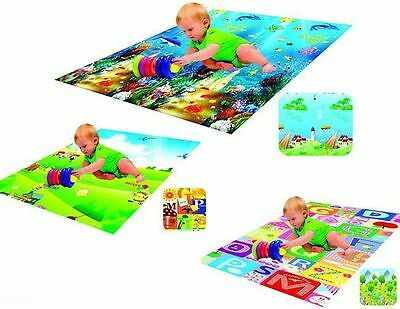 Baby Play Mat Foam Soft Gym Rug Children Kid Toddler Double Side Padded Game New