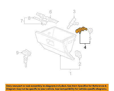 HONDA OEM Glove Box-Glove Box Assembly Arm Right 77508SX0000