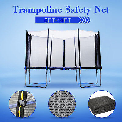 8 10 12 13 14 FT Trampoline Safety Net Replacement Enclosure Surround 6 8 Poles