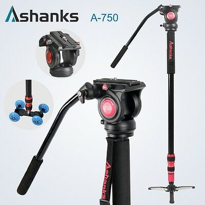 A-750 7FT Max load 8KG Pro Monopod For Video dslr Camera Tripod work with dolly