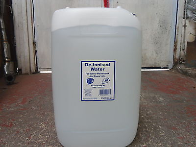 Deionised De ionised Water 25Ltr 25 Litres *Free Express Delivery*