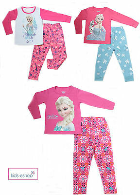 Girls pyjamas Pink Set Long Sleeve with Frozen Elsa Payama PJs Size 2-7 Years