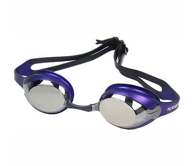 Speedo Merit Mirror Racing Competition Swimming Goggles Brand New Anti Fog
