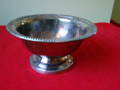Vintage Silver Footed Bowl Primrose Plate EP Copper  381450