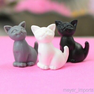 Assorted Happy Cats - 3 Colors - Set of 6