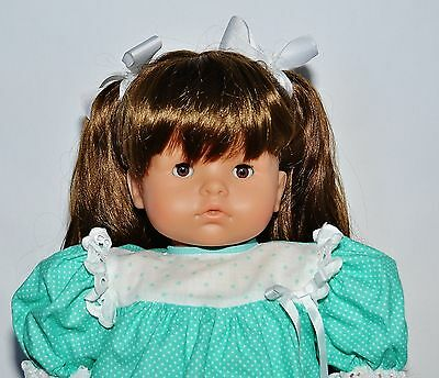 "Gotz Puppe 17"" Doll Brown Hair & Brown Eyes Made In West Germany"