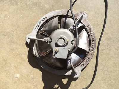 vintage fan, signal electric, 1953 type v-312, ventilator