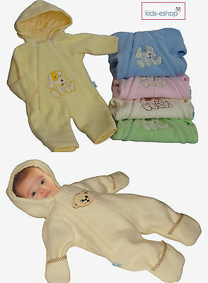 Baby Boy Girl Fleece Jumpsuit Romper with hood Outfit Pramsuit