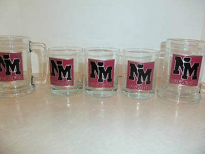 New Mexico State Beer Mugs and Whiskey Tumblers Glass Pewter Barware Glassware