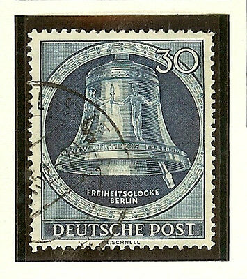 Germany Berlin 1951-2 Freedom Bell #9N78 Vf/xf Used Increasing Catalog Value
