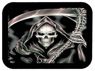 GRIM REAPER Death Skull with Sickle Motorcycle Biker Leather Patch