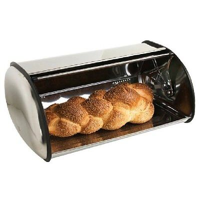 Home Basics Stainless Steel Bread Box, Free Shipping, New