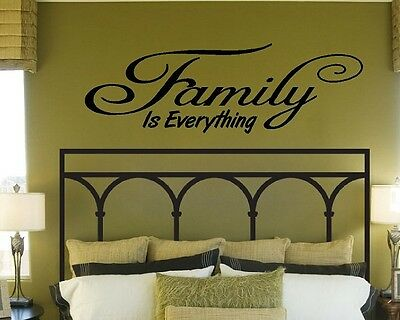 FAMILY IS EVERYTHING VINYL DECAL WALL QUOTE STICKER FAITH HOPE LOVE FOREVER USA