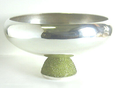 Spectacular MODERNIST Sterling 925 RAVISSANT Peridot Gem 24 oz FRUIT BOWL $3200