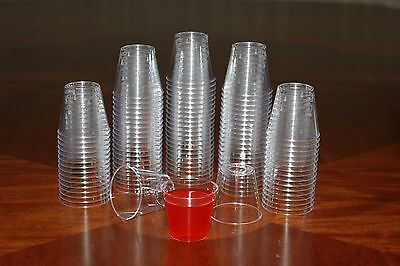 1 ounce Clear Plastic Shot Glasses - Box of 500 (1 oz), Free Shipping, New