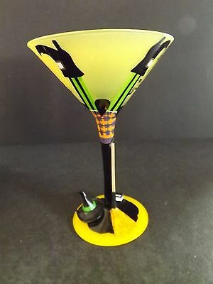"""LOLITA LOVE MY MARTINI """"WICKED WITCH, THE 5TH""""  GLASS - 7 O. - #5575T - IN BOX"""
