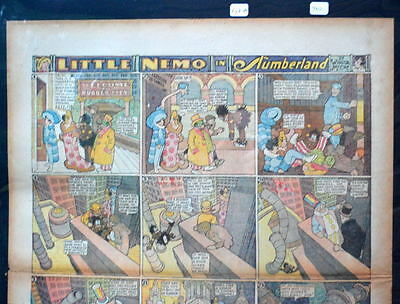 LITTLE NEMO SUNDAY Color Strip 1/17/1926 WINSOR McCAY Little Nemo in Slumberland
