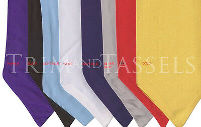 Graduation Stole- MANY COLORS AVAILABLE