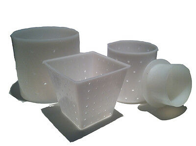 Set of 3 Assorted Molds for Cheesemaking- Cylinder, Pyramid, Mold with Follower
