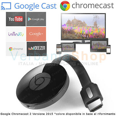 GOOGLE CHROMECAST 3 ver. 2019 HDMI STREAMING MEDIA PLAYER YOUTUBE INFINITY WiFi
