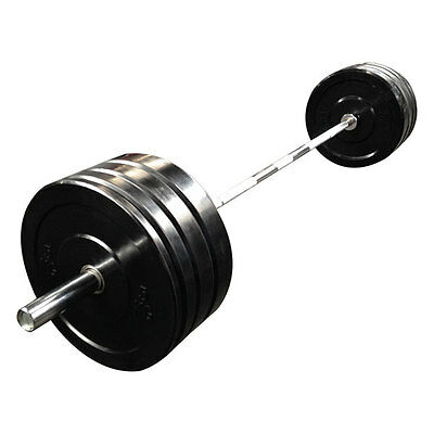 100kg Black Bumper Plates Set for Gym Exercise Weight Lifting fitness training
