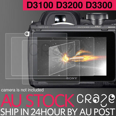 LCD Premium Tempered Glass Film Screen Protector For NIKON D3100 D3200 D3300