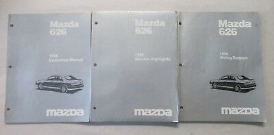 1998 mazda 626 bodyshop electrical wiring diagram & service highlights  manual