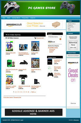 Pc Games - Fully Automated Affiliate Store Business Website For Sale