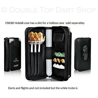One80 Holdall Darts Case / Wallet has a slot for a Solibox (Sold Seperately)