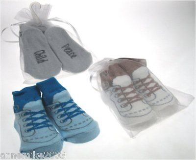 BNWT baby boys cute lace up look socks sizes 6-12 mths