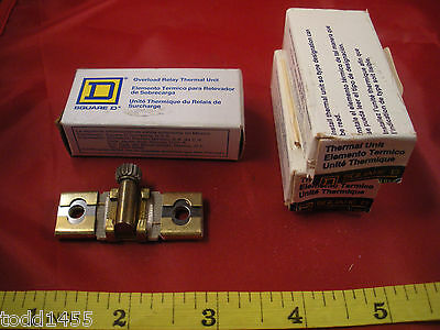 Square D Lot of (3) B0.81 Heater Overload Relay Thermal Unit Element B 0.81 New