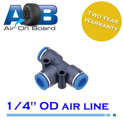 "Air fitting 102 push in 1/4"" PU pneumatic T piece endless air on board air viair"