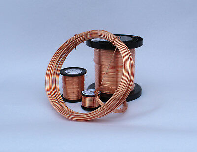 BARE SOFT COPPER WIRE 125GRAMS 0.15mm - 2.00mm . uncoated - solid copper